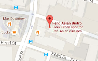 Map of Feng Restaurant in Hartford, CT
